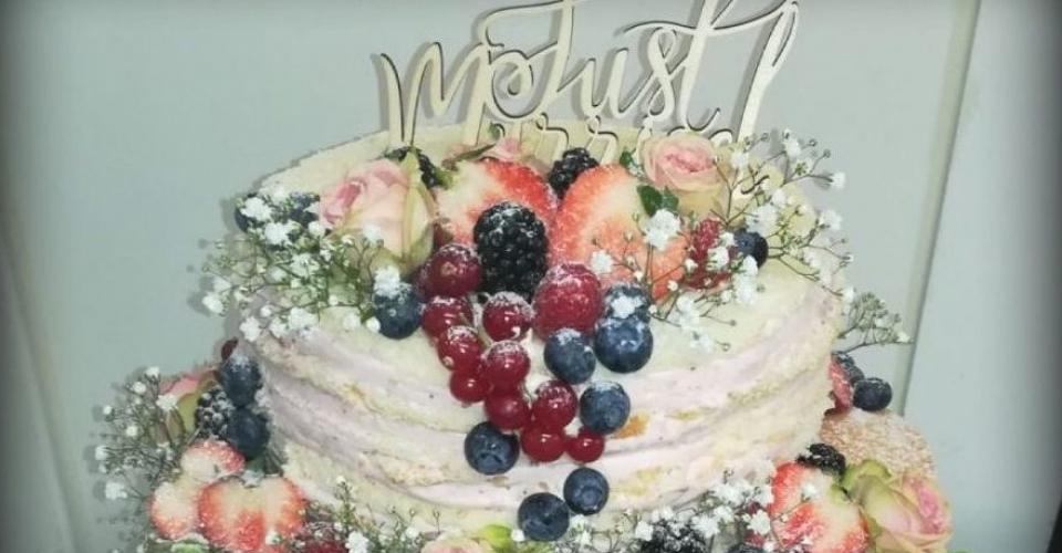 Naked cake, Hochzeitstorte, Konditorei Leeder