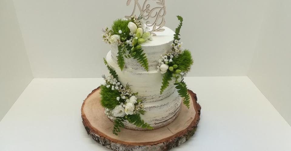 Semi Naked Cake, Naked Cake, Konditorei Leeder